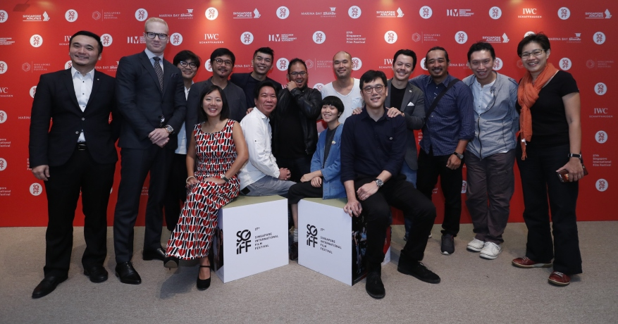 Yuni Hadi and Zhang Wenjie with Partners and Singapore filmmakers at the 27th SGIFF Media Conference.JPG