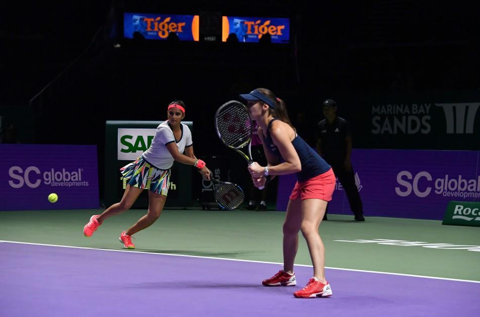 Sania Mirza and Martina Hingis (Photo Credit - Lagardère Sports)