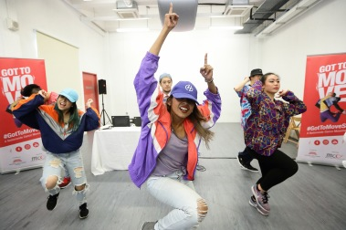 """""""Got to Move Mass Dance"""" performed by dancers from Danz People at the media launch of Got to Move 2017 (2)"""