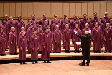 50 choir member from the Nidaros Cathedral Men and Boys Choir