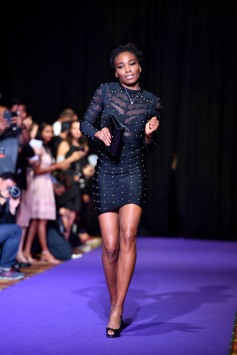 SINGAPORE – Venus Williams of the USA pictured at the official singles draw ceremony ahead of the BNP Paribas WTA Finals Singapore presented by SC Global at the Singapore Indoor Stadium, October 22 – October 29, 2017. At the Marina Bay Sands Convention Centre. Picture by Paul Lakatos/ Lagardère Sports.