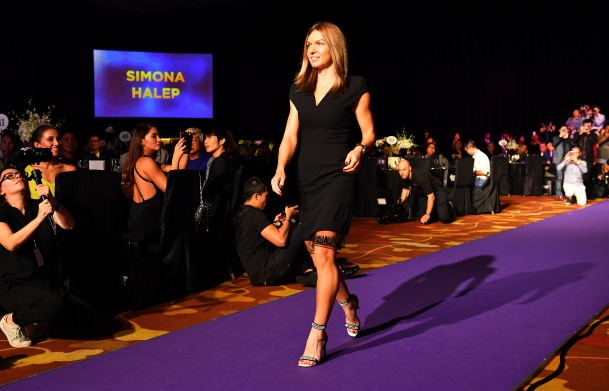 SINGAPORE – Simona Halep of Romania pictured at the official singles draw ceremony ahead of the BNP Paribas WTA Finals Singapore presented by SC Global at the Singapore Indoor Stadium, October 22 – October 29, 2017. At the Marina Bay Sands Convention Centre. Picture by Paul Lakatos/ Lagardère Sports.