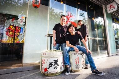BigSakeBar_Jeremy Goh, Daniel Kwok, Chef Andy Quek