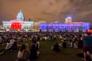 Light to Night Festival, 2017 (Credit- National Gallery Singapore)