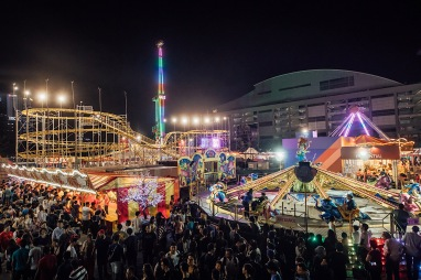Carnival-goers at Bayfront Event Space. Image courtesy of Prudential Marina Bay Carnival.jpg
