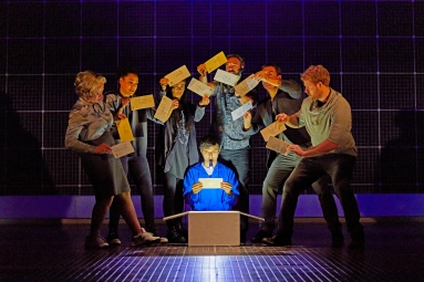 Joshua Jenkins (Christopher Boone) and company Curious Incident International Tour. Photo by Brinkhoff Mîgenberg
