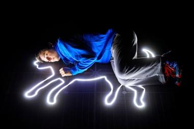 Joshua Jenkins (Christopher Boone) - Curious Incident International Tour. Photo by Brinkhoff Mîgenberg