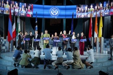 Barri Baskoro, Shane Mardjuki, Ghafir Akbar, Jo Kukathas, Daniel Jenkins, Edward Choy and Julie Wee in Shakespeare in the Park - Julius Caesar (1)